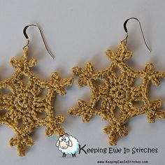 May your season be Merry and Bright! Limited Edition Bright Gold Snowflake Earring  #BestGifts #KeepingEweinStitches http://ift.tt/2heDd4B