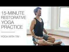 15 Min Restorative Yoga For Relaxation - YouTube