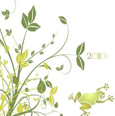 """Cartes de voeux - modèle """"Verde"""" 2010 (impression sur papier recyclé, certifié FSC) © COPY-TOP"""