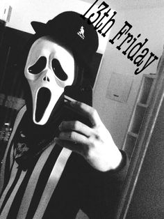 13th Friday!  #blackscale #kangol #scream #13th Friday