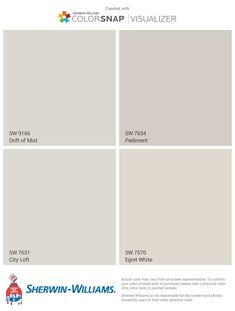 Drift of Mist. Drift of Mist. Garage Paint Colors, Taupe Paint Colors, Room Paint Colors, Exterior Paint Colors, Paint Colors For Living Room, Paint Colors For Home, Wall Colors, House Colors, Taupe Color Palettes