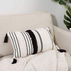 Boho Cushions, White Throw Pillows, Throw Pillow Cases, Decorative Pillow Covers, Decorative Throw Pillows, Accent Pillows, Modern Throw Pillows, Lumbar Throw Pillow, Black And White Pillows
