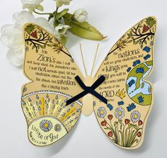 Excited to share this item from my #etsy shop: Christian Gift - Handmade Bible Verse 3D Butterfly Isaiah 62 v 1-3 Card With Envelope, Bookmark Friend Of God, Gift Envelope, Butterfly Wall Art, 5 Gifts, Glue Dots, Christian Gifts, Bible Verses, Butterflies, Etsy Shop
