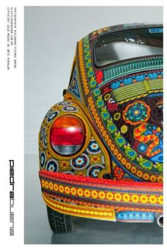 Huichol beaded Volkswagen.  Over 2,000,000 seed beads were applied!