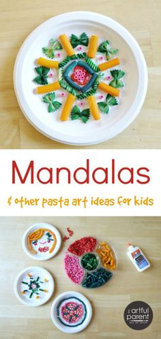 Mandalas and Other Pasta Art Activities for Kids--, faces