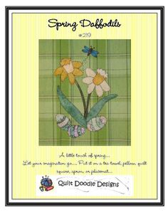 Spring Daffodils Applique  Pattern for Tea by quiltdoodledesigns, $4.00