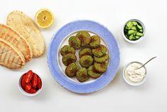Φαλάφελ Raspberry, Strawberry, Falafel, Sprouts, Cooking Recipes, Fruit, Vegetables, Food, Drink