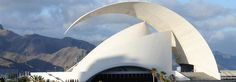 Auditorio de Tenerife Adán Mártin by Santiago Calatrava. Great use of thin shell concerete
