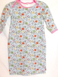 Zutano Girls 9M Infant Sleep Gown Owls Chicks Blue Pink 100% Organic Cotton #Zutano #Everyday