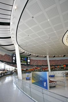 NASCAR Museum and Hall of Fame, Charlotte, NC using USG Ceilings