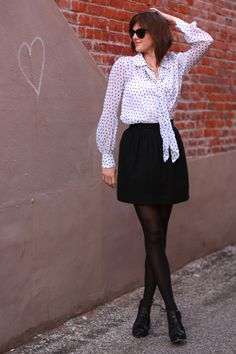 Jessica Quirk, What I Wore, WhatIWore, tumblr fashion, fashion tumblr, fashion blog, fashion blogger, personal style, personal style blogger, outfit of the day, ootd, what i wore today, how to wear black and white, Modcloth, vintage, cat eye sunglasses