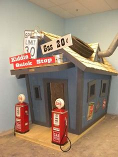 Kid's Gas Station - would love to have for bike storage