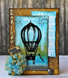 Daydreams In Paper: Simon Says Stamp Monday Challenge - Explore The World Simon Says Stamp Blog, Card Creator, Ranger Ink, Distressed Painting, My Stamp, Tim Holtz, Greeting Cards Handmade, Paper Art, Inspiration