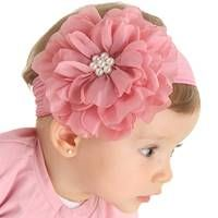 This Pin was discovered by pau Baby Girl Hair, Baby Hair Bows, Baby Girl Headbands, Cloth Flowers, Felt Flowers, Fabric Flowers, Ribbon Art, Ribbon Bows, Baby Band