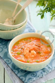 Asopao de Camarones Recipe (Shrimp and Rice Pottage): a great dish that is usually prepared for informal get-togethers.