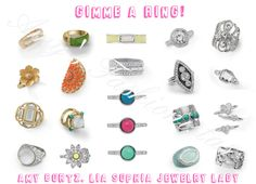 """""""Gimme A Ring!""""  NEW Spring/Summer rings, rings and more rings.  LOVE  liasophia.com/twl"""