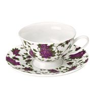Classic Violet Teacup and Saucer