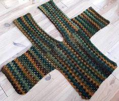 Linde Woman& Web: Granny Square Vest hooks - a little bit of everything chrochet shawls/ponchos/vest/scarves/tops - Crochet Bolero, Pull Crochet, Crochet Cardigan Pattern, Crochet Jacket, Crochet Poncho, Crochet Granny, Crochet Patterns, Crochet Vests, Crochet Baby