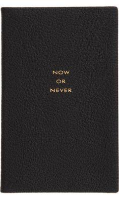 """Smythson Panama """"Now Or Never"""" Notebook ($50-100) - Svpply"""