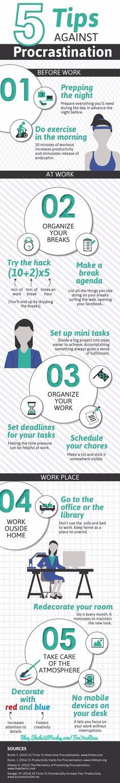 Procrastination tips - Infographic