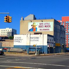 billboards says little does much - Google Search