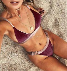 Femme Bikini Swimwear Women Velvet Swimsuit Women Bikinis Sexy Bathing Suit Women Biquini Bikini Set