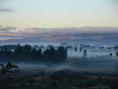 Paysage malgache, au petit matin