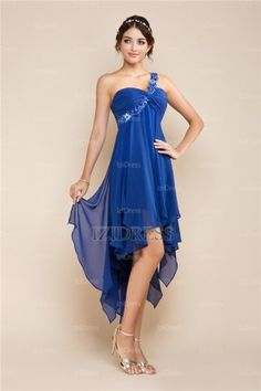 A-Line/Princess One Shoulder Chiffon Prom Dress - IZIDRESSES.com
