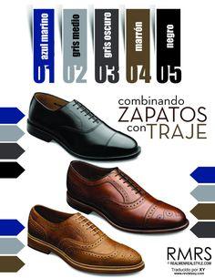 El arte de combinar zapatos con trajes no es tan fácil como parece. Por ejemplo, el negro no combina con todo. Aquí una guía esencial para no cometer ningún crimen de estilo.