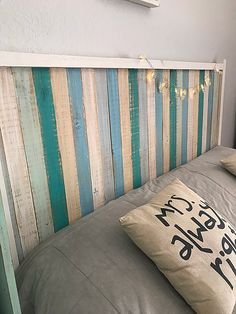 Reclaimed Wood Headboard, My Room, Architecture Design, Sweet Home, Throw Pillows, Bed, House, Ideas Para, Home Decor
