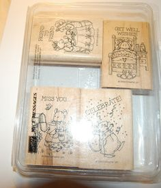 STAMPIN' UP MICE MESSAGES SET OF FOUR RUBBER STAMPS #StampinUp
