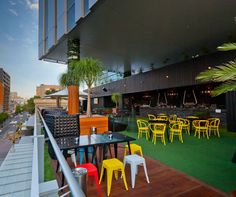 venue company The Publican Group were quick to jump on the opportunity for a unique new space, appointing HASSELL as architects and Habitat 1 as builders to create Perth's largest rooftop bar.