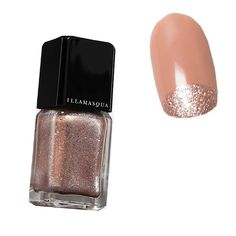 Holiday Manicures: The Prettiest Nail Art Ideas to Try Now - Rose Gold Half-Moon from #InStyle