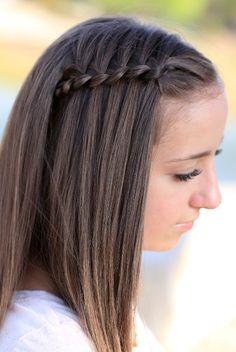 FOUR STRAND WATERFALL BRAID HAIRSTYLE FOR MEDIUM HAIR The 4 strand waterfall braid hairstyle is one of the various Hairstyles for Medium Hair that I would recommend for ladies who have hair close or a little longer below their shoulders