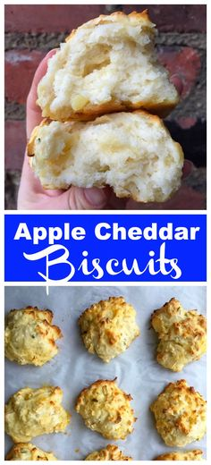 Lower Excess Fat Rooster Recipes That Basically Prime Fabulous And Fluffy Apple Cheddar Drop Biscuits - Clean Eats, Fast Feets Quick Bread Recipes, Apple Recipes, Crockpot Recipes, Frozen Biscuits, Drop Biscuits, Eating Fast, Clean Eating, Best Vegetarian Recipes, Delicious Recipes