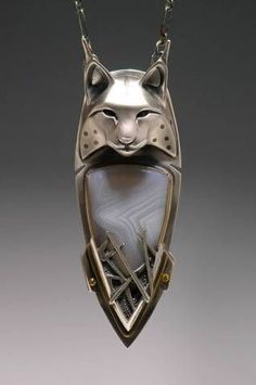 Silver Lynx Totem Necklace