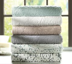 Pottery Barn Towels, Linens, and Throw Blankets. One can never have too many!