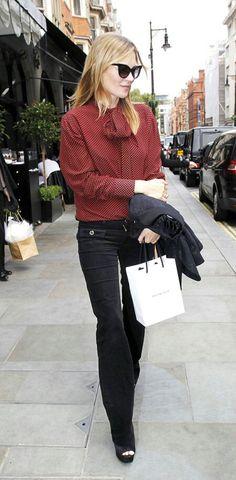 Kate Moss STREET STYLE on October 2, 2014 | La Beℓℓe ℳystère