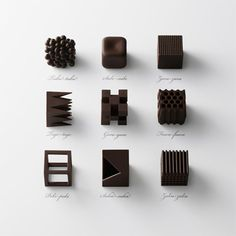 Chocolatexture: A Series of Chocolates to Represent Japanese Words For Texture Created by Nendo