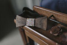 Groom bow tie wood