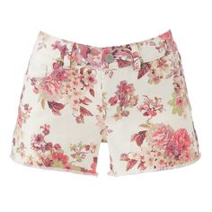 Floral Denim Shorts, real cute