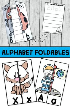 Alphabet Practice can be engaging and fun with these alphabet foldables.  Students will get practice identifying and writing letters!  #kindergartenliteracy #kindergartenlearning