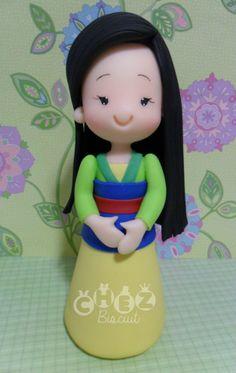 Mulan in clay, cold porcelain, modelado, porcelana fria