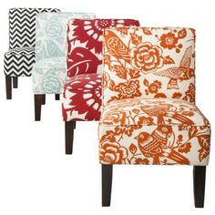 Alert. After a too long hiatus the Thomas Paul fabric design covered chairs are back at Target as of 1/21/13. Get 'em while they last. Armless Accent Slipper Chair Collection
