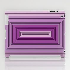 Rectangles shades of purple iPad Case by aapshop - $60.00