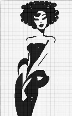 0 point de croix femme cheveux boucles robe sexy - cross stitch curly hair lady in sexy dress