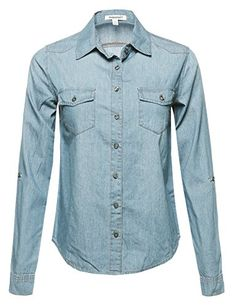 d3ff85af30c Button Down Chambray Lightblue Size L *** You can find more details by  visiting