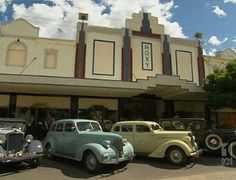 The Roxy Theatre in #Bingara NSW  is a striking building, with a history as colourful as its painted exterior. Built in 1936 by three Greeks, it operated as a cinema until 1958, after which it was closed and lay dormant and untouched for forty years. In May 2004, The Roxy was faithfully restored to its original splendor and was re-opened to the public. http://www.roxybingara.com.au/
