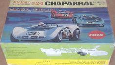 Cox 1965 Jim Hall Chaparral Race Car 1 24 Original Vintage Model Kit Mint in Box   eBay