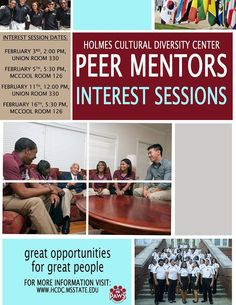 Think you have want it takes to be a Peer Mentor? If so don't miss our interest sessions!!!!! See flyer for more details!